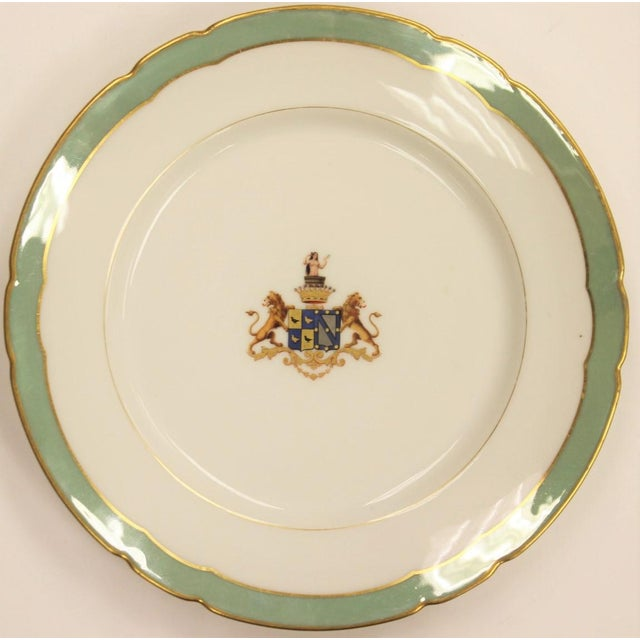 Armorial Gilt Salad Plate - Image 2 of 4