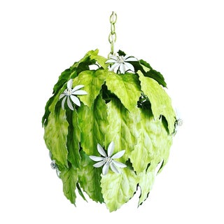 Leafy Italian Pendant Light For Sale