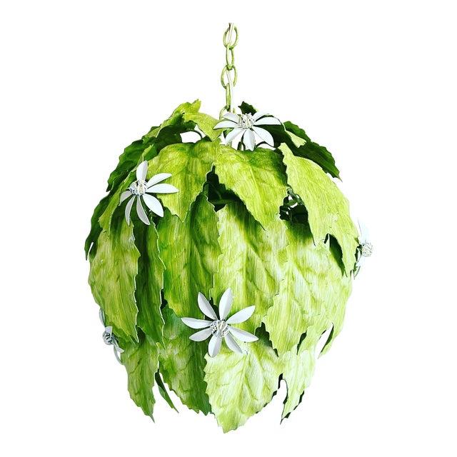 Leafy Italian Pendant Light For Sale