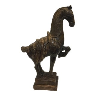 Brown Glazed Horse Statue For Sale
