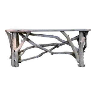 Handcrafted Driftwood Console Table For Sale