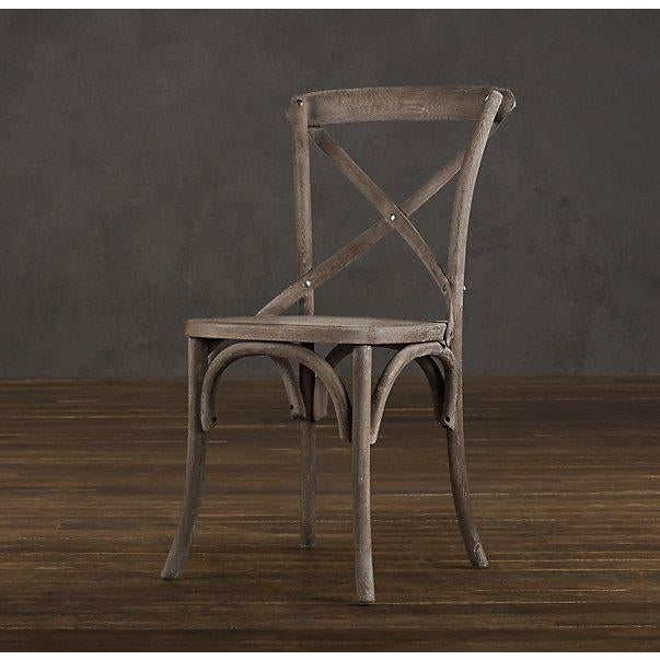 French Country Restoration Hardware Madeleine Side Chair For Sale - Image 3 of 10
