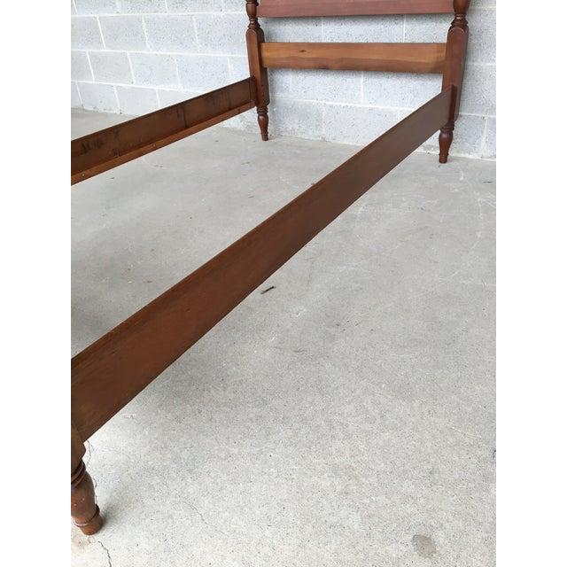 Brown Vintage Mahogany Chippendale Style Twin Accorn Poster Bed For Sale - Image 8 of 8