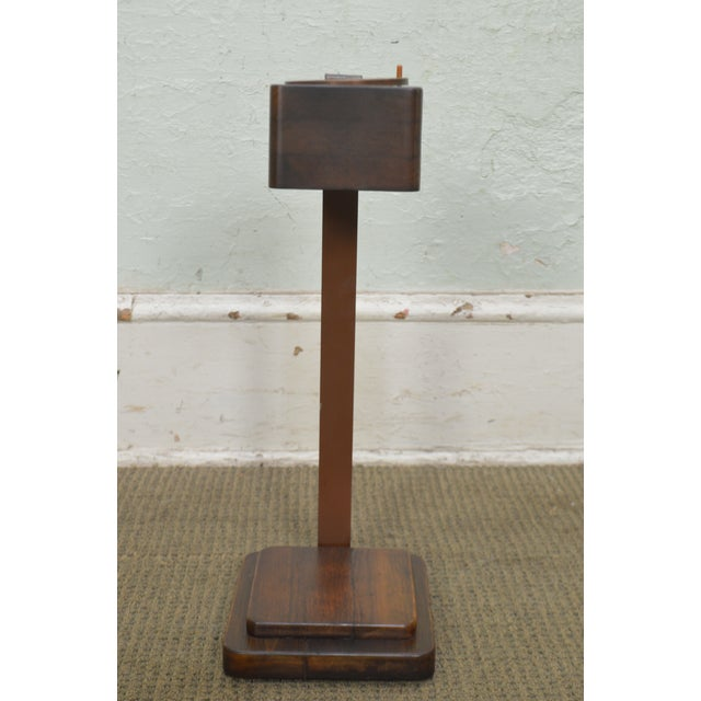 Art Deco Vintage Pair of Mahogany Smoke Stands Possibly Gilbert Rhode For Sale - Image 4 of 13