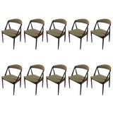 Image of Mid Century Kai Kristiansen Dining Chairs- Set of 10 For Sale