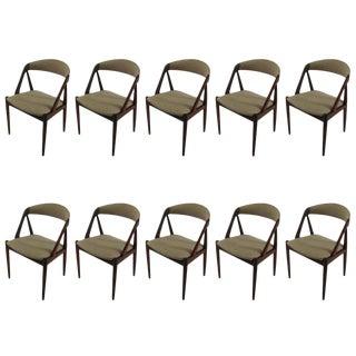 Mid Century Kai Kristiansen Dining Chairs- Set of 10 For Sale