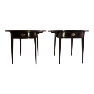 20th Century Traditional Mahogany Side Tables - a Pair For Sale