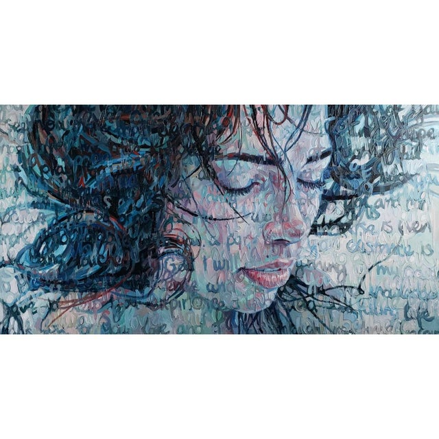 """""""Immersed"""" Oil Painting on Canvas by Christina Major For Sale In West Palm - Image 6 of 6"""