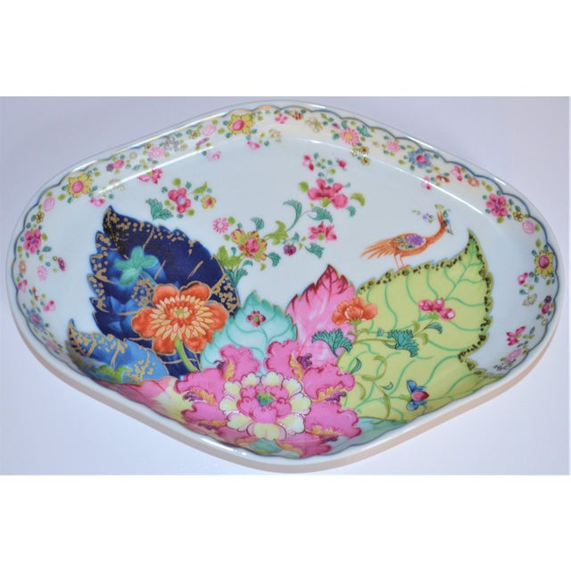 Mottahedeh Vintage Mottahedeh Tobacco Leaf Porcelain Oval Tray For Sale - Image 4 of 8