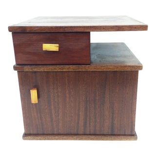 Mid-Century Modern Two Tier Nightstand For Sale