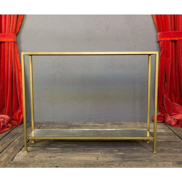 Custom-made Marcelo Console Table With Antique Mirror Shelving - Image 4 of 10
