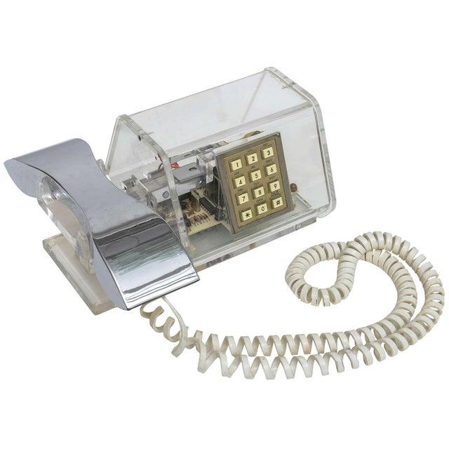 Mid-Century TeleConcepts Chrome & Lucite Phone For Sale