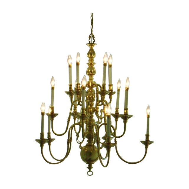 15 Light Faux Candlestick Chandelier - Image 1 of 3