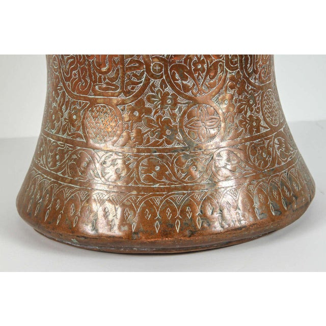 Mid 19th Century Large 19th Century Persian Copper Bucket With Handle For Sale - Image 5 of 9