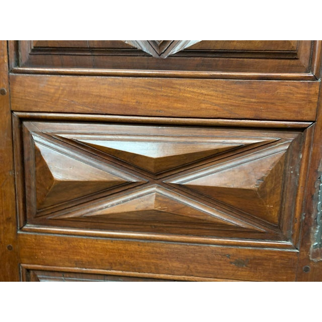 Late 18th C Antique French Oak Armoire Doors - a Pair For Sale - Image 9 of 13