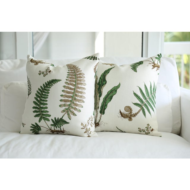 Stensöta (Fern) Textile Pillows - a Pair 18 X 18 For Sale In Miami - Image 6 of 6
