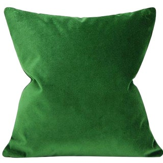Emerald Velvet Pillow Cover - 20 Inch For Sale
