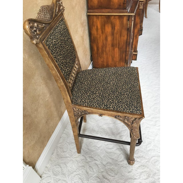 Maitland Smith Cheetah Print Bar Stool - Image 3 of 6