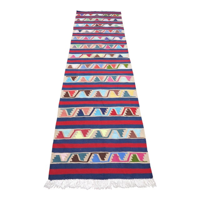 Vintage Turkish Kilim Runner Rug For Sale