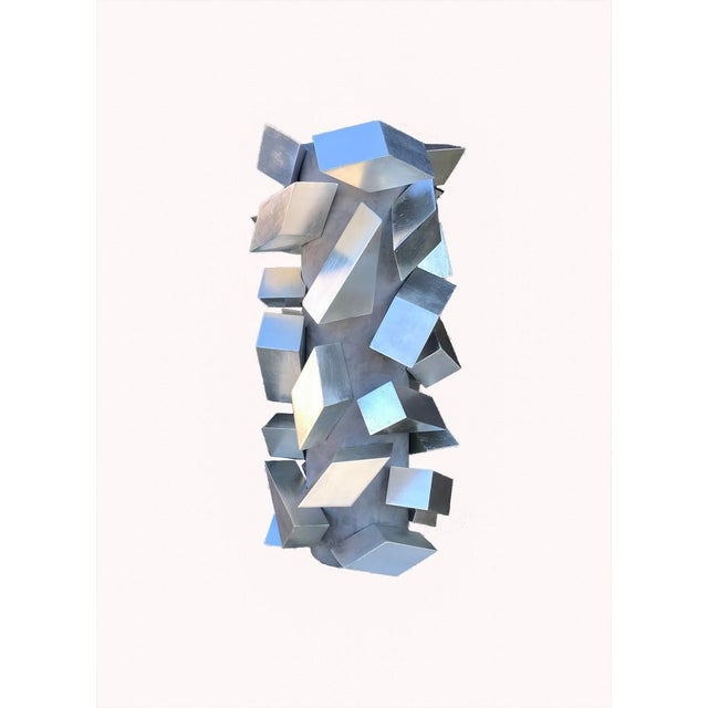 Cubist Silver Leaf Sculpture by Maria Giansante For Sale In New York - Image 6 of 6