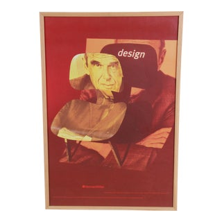 "Rare Charles Eames Herman Miller ""Design of the Century"" Framed Advertising Poster For Sale"