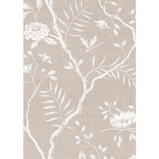 "Lewis & Wood Jasper Peony Almond Bespoke Extra Wide 52"" Botanic Style Wallpaper For Sale - Image 4 of 5"