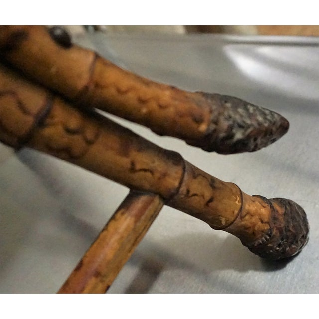 Victorian Burnt Bamboo Stool - Image 5 of 8