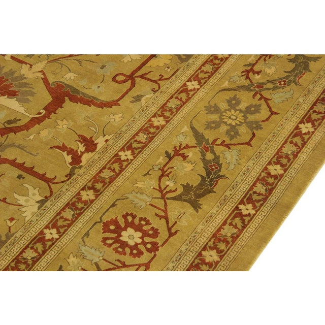 1950's Persian Karri Rust Hand-Knotted Rug -10'0 X 13'8 For Sale - Image 4 of 9