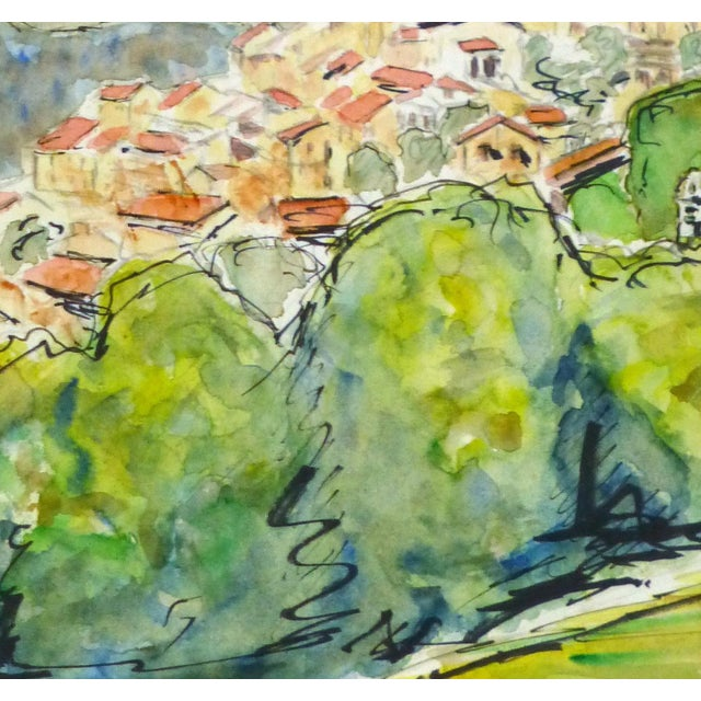Vintage French Watercolor - Provence, France - Image 2 of 4