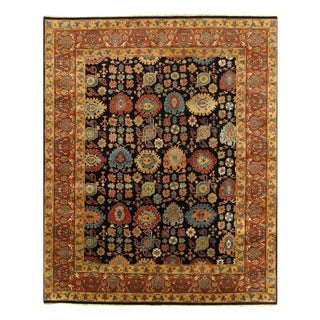 Pasargad Navy Blue Persain Hand Knotted Bidjar Design Rug 8' X 10' For Sale