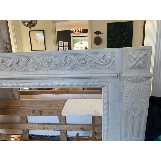 1900s Marble Fireplace Mantel For Sale In Chicago - Image 6 of 12