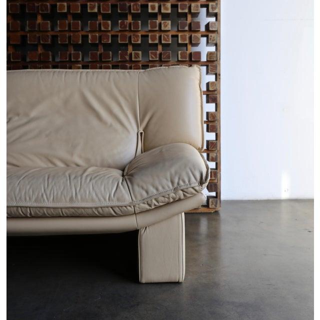 Modern Nicoletti Salotti Modern Leather Sectional Sofa Circa 1985 For Sale - Image 3 of 13