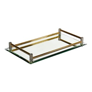 Brass & Mirrored Tray
