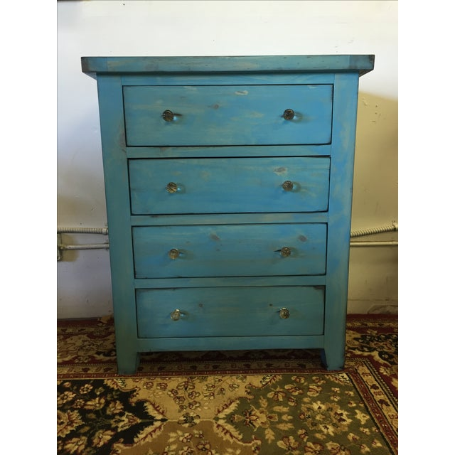 Blue Shabby Chic Chest - Image 2 of 6