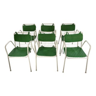 Mid Century Modern Emu Italian Wire Stacking Chairs - Set of 6 For Sale
