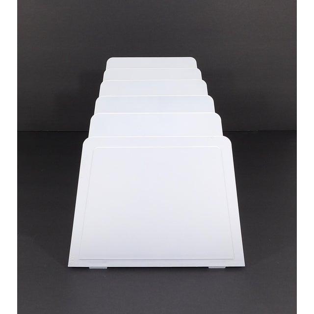 Late 20th Century 20th Century Modern White Plastic Office Desk File Sorter For Sale - Image 5 of 8