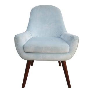 Vintage Mid-Century Pastel Blue Chair For Sale