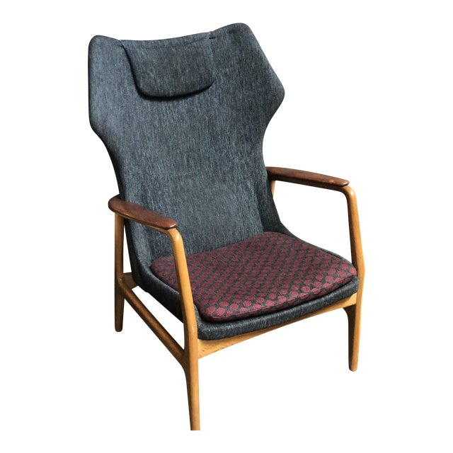 Aksel Bender Madsen Danish Modern High Boy Lounge Chair For Sale