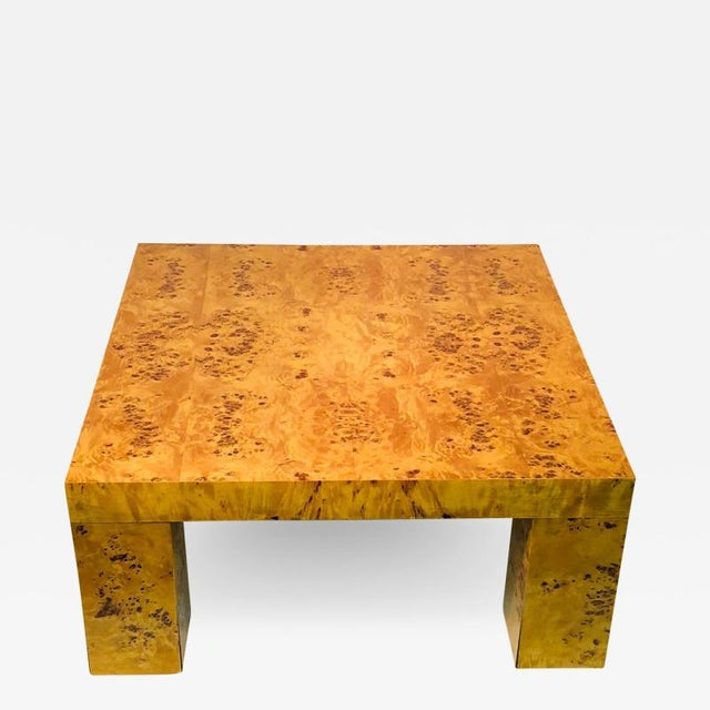 Burl Wood Table by Willy Rizzo For Sale - Image 9 of 9