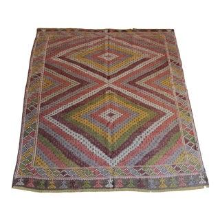 1960s Turkish Floor Kilim Rug For Sale