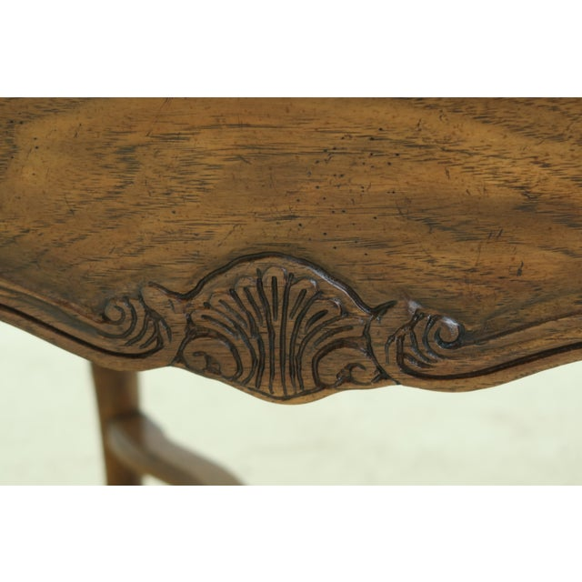 Drexel Heritage Country French Style Walnut & Oak End Table For Sale In Philadelphia - Image 6 of 10