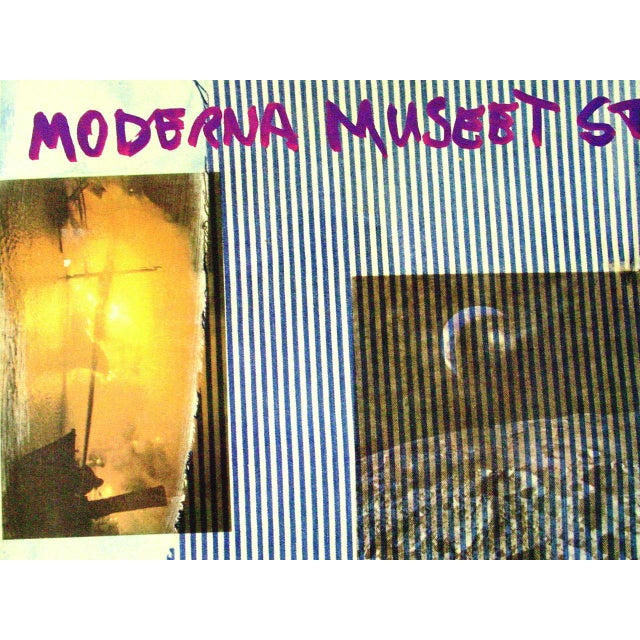 Abstract Robert Rauschenberg 1981 Moderna Museet Exhibition Poster Signed For Sale - Image 3 of 7
