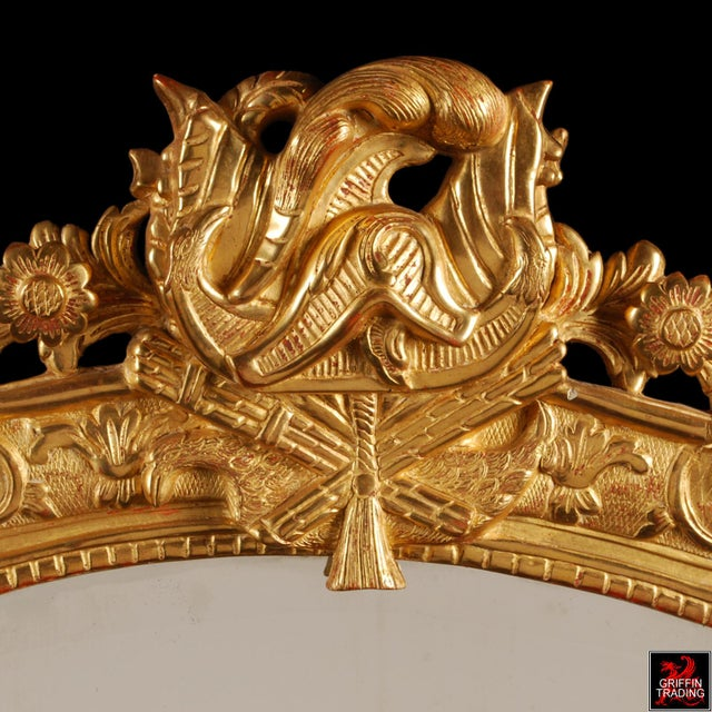 Early 18th Century Superb French Regency Period Giltwood Wall Mirror For Sale - Image 5 of 12