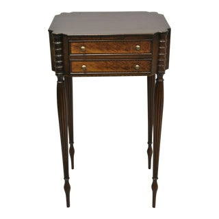 19th Century Antique American Sheraton Nightstand For Sale