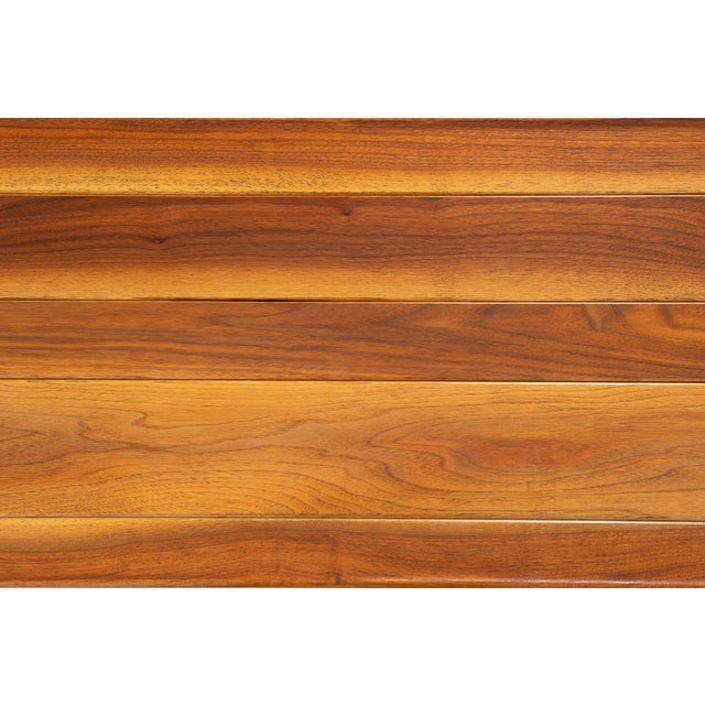 1950s Edward Wormley for Dunbar Long John Bench For Sale - Image 5 of 9