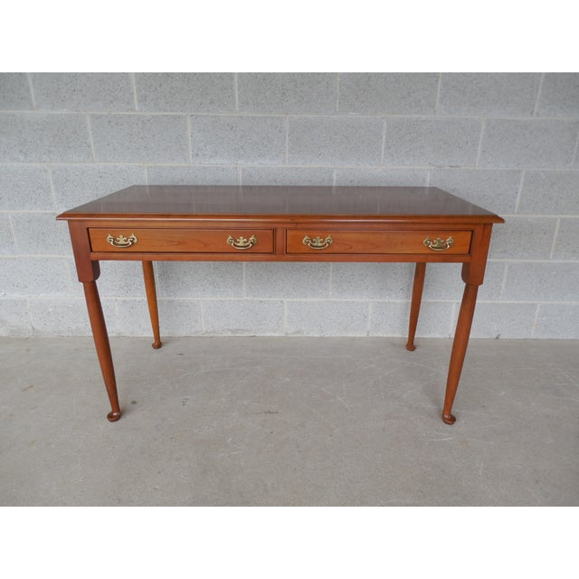 Features Fine Quality Solid Construction, 2 Dovetailed Drawers, Brass Hardware, Club Style Foot Original Condition,...