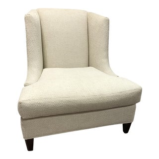 """Transitional """"James"""" Cream Fabric Side Chair For Sale"""