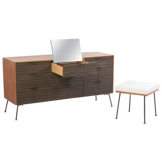 Dresser With Stool by Raymond Loewy for Mengel Furniture Company, Us, 1950s For Sale