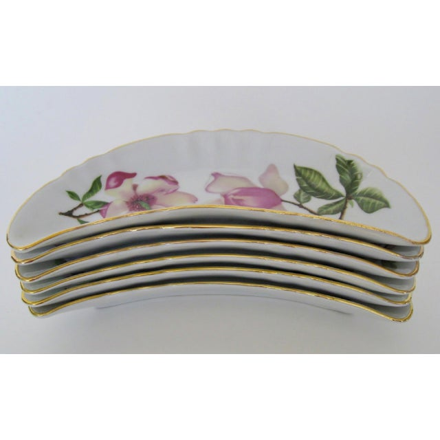 Shabby Chic Bavarian Appetizer Dishes - Set of 6 For Sale - Image 3 of 5