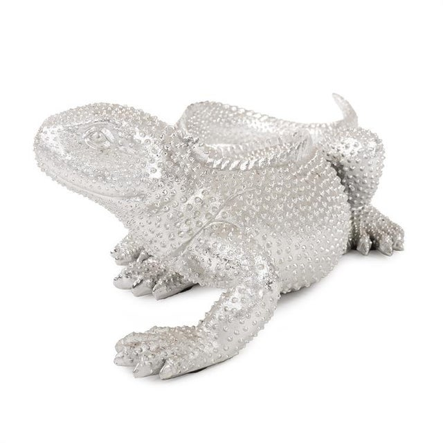 Kenneth Ludwig Chicago Kenneth Ludwig Chicago Bright Nickel Plated Lizard For Sale - Image 4 of 10